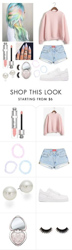 """""""Untitled #376"""" by beth15n ❤ liked on Polyvore featuring Christian Dior, WithChic, AK Anne Klein, NIKE and Too Faced Cosmetics"""