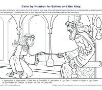 Esther And The King Color By Number Bible Activity For Kids