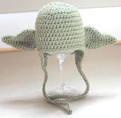 FREE - Crochet Pattern for Yoda Hat
