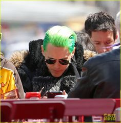 Jared Leto's Green Hair Is Slicked Back for Toronto Bike Ride
