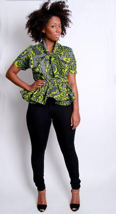 The Tirzah African Print 100 Holland Wax by DemestiksNewYork