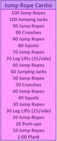 Jumpe rope cardio circuit.