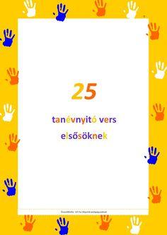 A 25 legszebb tanévnyitó vers elsősöknek by IOT. Group Activities, Cool Tools, Speech And Language, Bar Chart, Poems, Preschool, Classroom, Education, Reading