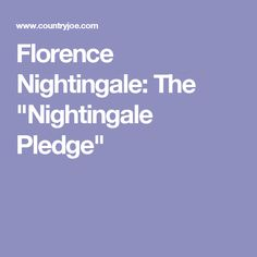 nightingale pledge meaning