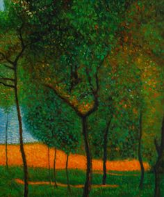 Orchard 1905 Oil Painting by Gustav Klimt inspo for surrealism Gustav Klimt, Klimt Art, Landscape Art, Landscape Paintings, Landscapes, Art Nouveau, Vienna Secession, Art For Art Sake, Elements Of Art