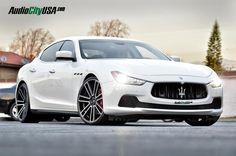 Maserati after modification and/or restoration by Audio City USA. Visit this section to see stunning photos with complete step by step build photos.