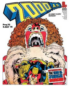 CLASSIC COVER: Judge Dredd by Mike McMahon for 2000 AD Prog 72 (8th July, 1978) Order The Cursed Earth Uncensored from 2000 AD now: http://shop.2000adonline.com/products/judge_dredd_the_cursed_earth_uncensored_ltd_edition