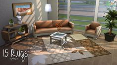 Sims 4 CC's - The Best: Rugs by Melly
