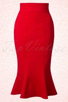 Heart of Haute Diva Red Fishtail Skirt 120 20 17025 20151130 0007W