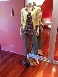 Mark my words - these 3 pieces will be big sellers at CAbi this season. Coast crop - they will go with EVERYTHING. Mesh Shirt is absolutely smashing on - so incredibly well tailored. And the Daffodil Cardigan - whenever you need a little something something - throw the yellow cardi on!!!