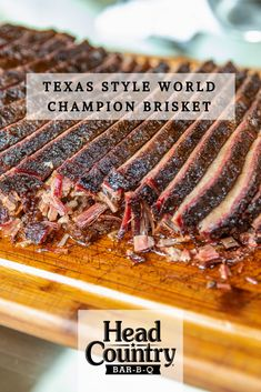 Texas Style BBQ World Champion Brisket Recipe | How To Grill The Best BBQ Brisket Best Bbq Recipes, Summer Grilling Recipes, Healthy Grilling, Other Recipes, Traeger Recipes, Game Recipes, Pork Recipes, Delicious Recipes, Healthy Food