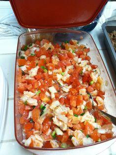 Lomi lomi salmon, made by my mom. Soo gooooood. I love Hawaiian food.