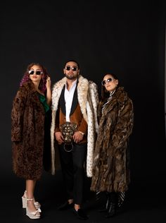 Fur coats and stunna shades. Get your lewk and personality shots at CJP Studios. Contact me to book a session!