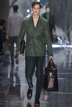 Berluti Men's RTW Fall 2015  -This double breasted jacket is gorgeous. The cut, the color.  Beautiful.