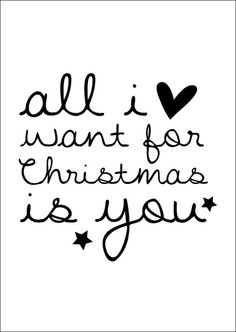 All i want for christmas is you postcard ● Buy it at Troetel.com