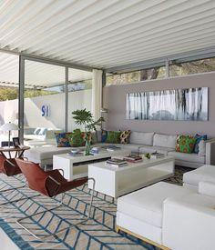 Ameublement design confortable et accueillant de cette belle maison de vacances