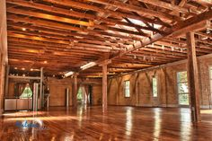 Zaza Gardens, a downtown San Antonio wedding or party venue in former pickle factory is wood rich cool