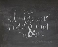 I Love You A Bushel and A Peck Chalkboard by TheBurlapBungalow ...