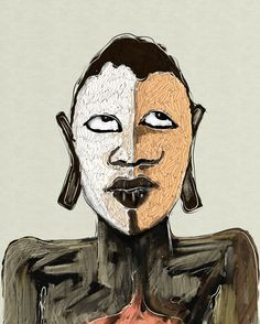 Mask 2 / Digital art / ipad 100%