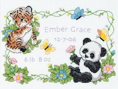 Dimensions Needlecrafts Stamped Cross Stitch, Baby Animals Birth Record by Dimensions Needlecrafts, http://www.amazon.com/dp/B001DEI3YC/ref=cm_sw_r_pi_dp_.lICqb1S5XSAT