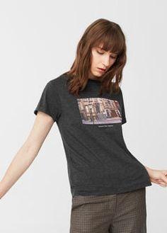 4a8d6c75902 Printed cotton t-shirt - Women