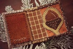 Wooly Acorn Needle Book 3.75''w  4.25''h