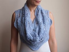 Knitting Scarf Patterns Infinity Scarf : Infinity scarf pdf crochet pattern capelet shrug lace loop diy