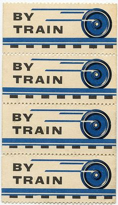 """By train"" postage."
