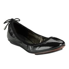Cole Haan - Air Bacara, ballet flats in black patent, $148