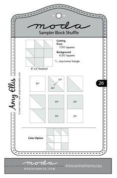 Moda Sampler Block Shuffle  -  Block # 26