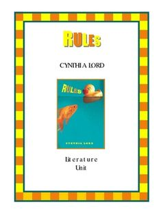Rules by Cynthia Lord - Common Core Aligned Novel Study | Student ...