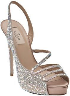 Valentino Silver Sparkle Sandal www.finditforweddings.com shoes