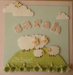 quadro de maternidade scrapbook ovelhinha - Pesquisa Google