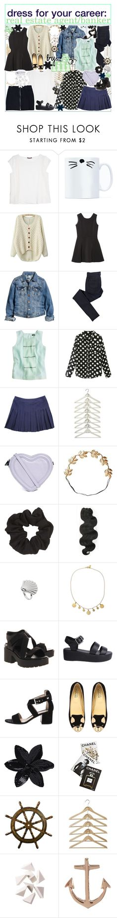 """☼; dress for your career: real estate agent/banker"" by ocean-clique-xo ❤ liked on Polyvore featuring Violeta by Mango, H&M, C.R.A.F.T., J.Crew, Chicnova Fashion, Chanel, ASOS, Eddera, Topshop and &K"
