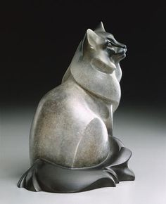 ''Misty'' (bronze sculpture of Birman house cat by artist and sculptor Jan Rosetta).