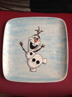 Olaf plate from Frozen