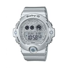 Baby-G Silver Shimmer Star Jewels Baby G Shock, Sport Watches, Casio Watch, Digital Watch, Jewels, Stars, Silver, Accessories, Kicks