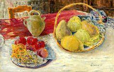 Pierre Bonnard(1867-1947)  Nature morte aux fruits dans le soleil