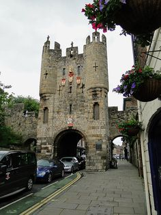Fantastical gatehouse- the Micklegate Bar, the main entrance into the city of York. York (North Yorkshire, England)