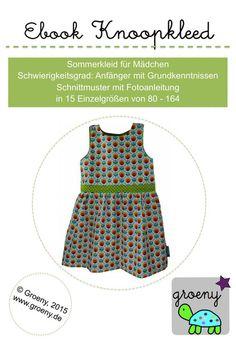 Ebook *Knoopkleed* Sommerkleid Größen 80-164 von groeny auf DaWanda.com