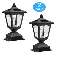 Shop for Kanstar Pack of 2 Kanstar Solar Powered Post Cap Light for 4 x 4 Nominal Wood Posts Pathway, Deck. Get free delivery On EVERYTHING* Overstock - Your Online Outdoor Lighting Store! Solar Post Lights, Solar Lamp Post, Lamp Post Lights, Outdoor Post Lights, Solar Led, Diy Solar, Outdoor Ideas, Wood Fence Post, Wood Post