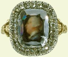 A  ring presented by George III as a wedding gift to his bride, Charlotte on their wedding day, 8th September 1761.