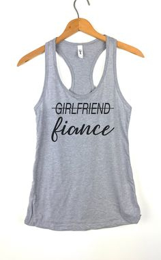 63f7e3f4 Girlfriend Fiance tank top, Womens Tank Tops, Yoga Tank Top, Workout Tank  Top
