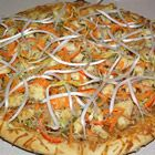 Thai Chicken Pizza - This is an easy to make, spicy Thai-inspired pizza.