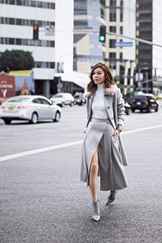 (via Jenny Tsang - Skirt - Grey Layers