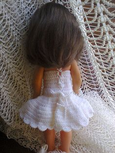 Crochet Doll Dress (Back)