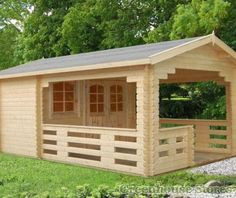 Palmako Sylvi Log Cabin from Greenhouse Stores with free UK home delivery. http://www.greenhousestores.co.uk/Palmako-Sylvi-Log-Cabin.htm