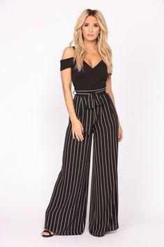 6a7d240f304 Kelly High Rise Woven Pants - Black White. Fashion Nova ...