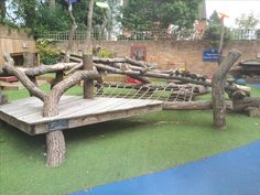 Natural play frame built at a primary school in Hertfordshire. copperbeechplay.co.uk Fish Pool, Copper Beech, Natural Play, Forest School, Primary School, School Projects, Outdoor Furniture, Outdoor Decor, Playground