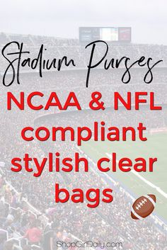 Football season is right around the corner! Bags Online Shopping, Discount Shopping, Shopping Hacks, Girls Shopping, Can You Feel It, How Are You Feeling, College Necessities, College Football Season, Clear Bags